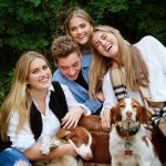 Family photographer and pet photographer Trina Koster captures a fun moment in Meaford, Ontario.
