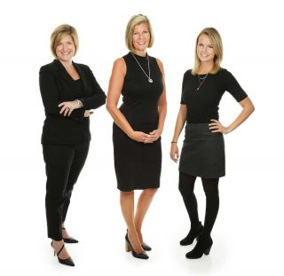 Staff portrait of 3 business women in Guelph