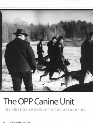 Editorial assignment photography of Ontario Provincial Police canine unit.