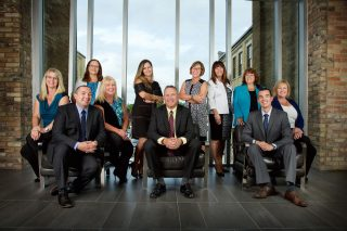 Corporate staff portrait taken in Waterloo, Ontario for BDO accounting firm.