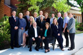Board of directors group photograph for Ontario Dairy Council.