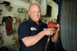 Business headshot of a mechanic in Guelph.