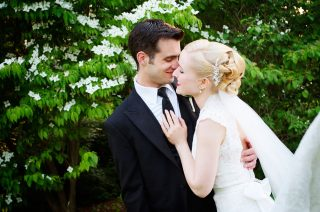 Bride and groom kissing shot by Cambridge wedding photographer Jeannine Brady.
