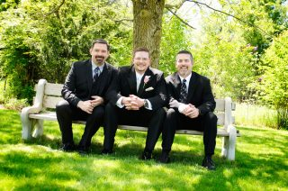 Jeannine Brady does wedding shoot of grooms' bestmen in Guelph.