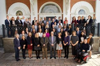 Conference photography of Manulife staff taken at Langdon Hall, Cambridge.