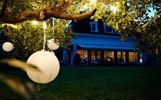 Image of Orchard Room at Langdon Hall taken during the night.