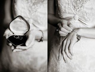 Detailed wedding photography of a bracelet.