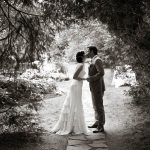 Couple kissing under trees at the Millcroft Inn, Alton