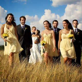 Wedding party photo at the Whistlebear Golf Course, Ontario.