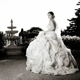 Bride at Royal Botanical Gardens in Burlington, Ontario.