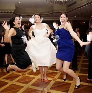 Bride and guests party at a Guelph wedding venue.