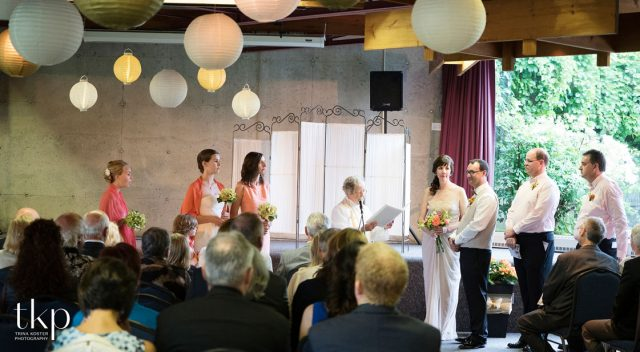 wedding ceremony at the arboretum centre guelph