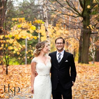 arboretum wedding in fall photos