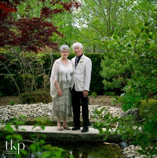 arboretum centre couple in japanese garden