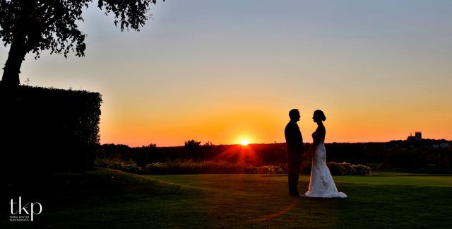 cutten fields wedding sunset photo