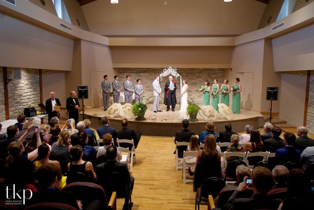 wedding ceremony at guelph youth music centre