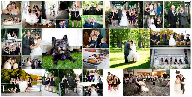 river run wedding collage photos
