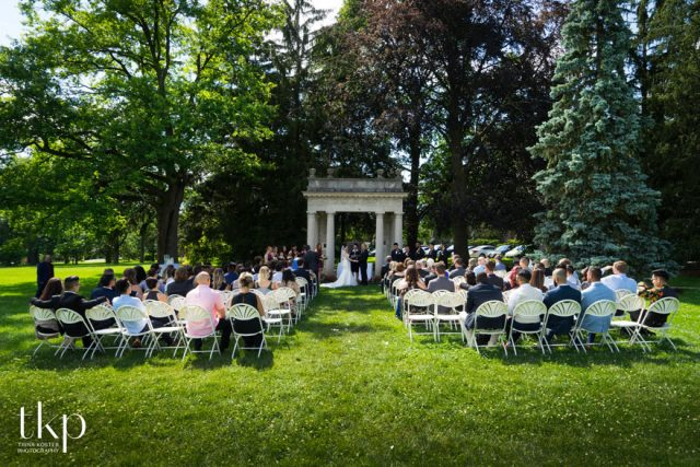 Johnston Green wedding ceremony portico