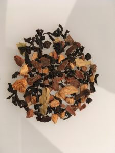 Product photography of tea leaves