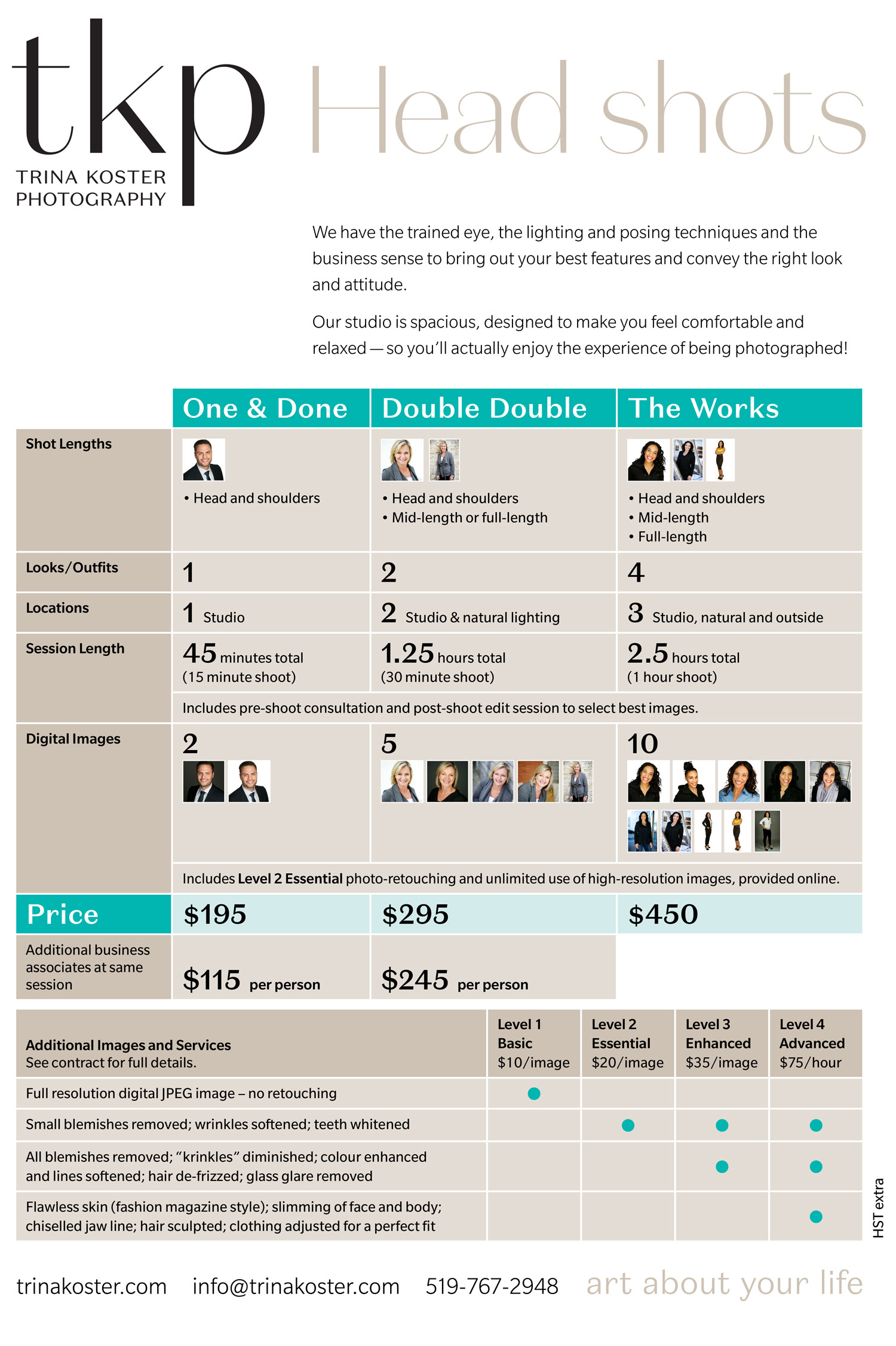 headshots pricing packages